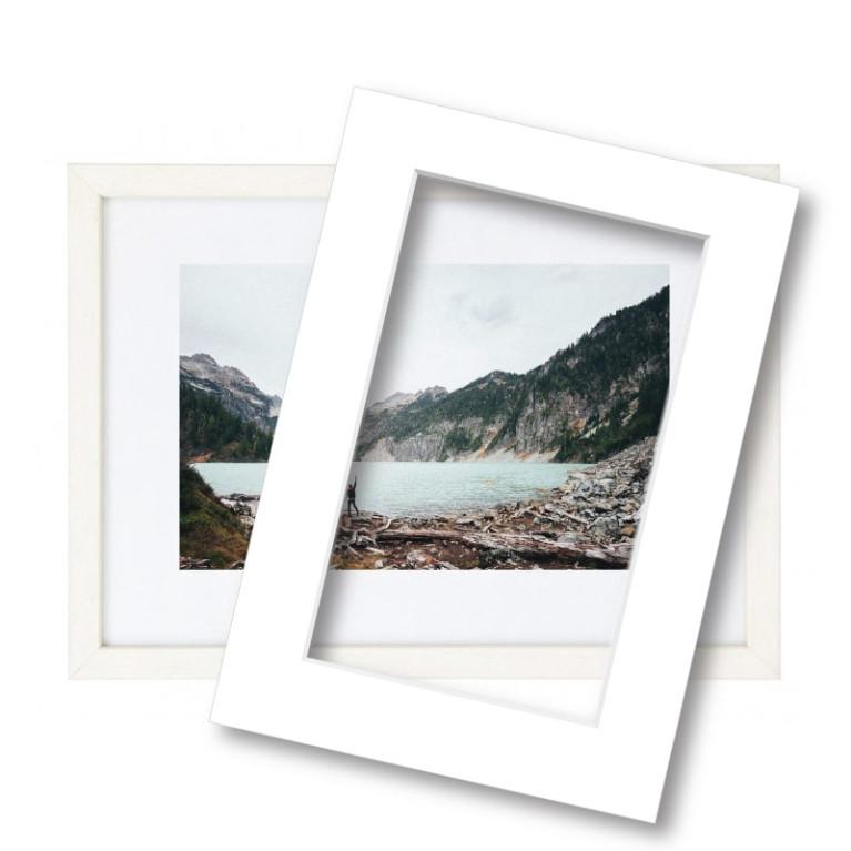 Witte Houten Fotolijst.Fotolijst Met Passe Partout 60x80cm Hout Wit