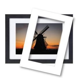 Fotolijst met passe partout 70x100cm hout zwart