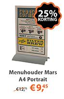 Menuhouder Mars A4 Portrait