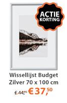Wissellijst Budget Zilver 70 x 100 cm