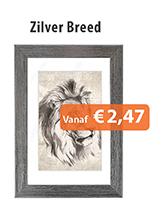 Fotolijstjes Zilver Breed