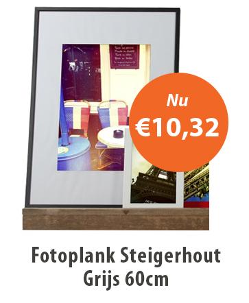 Fotoplank Steigerhout 60cm